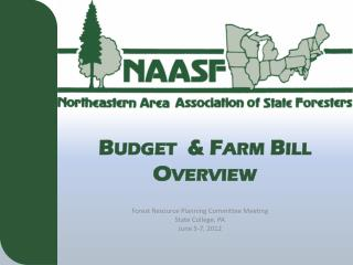 Budget  & Farm Bill Overview