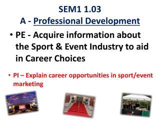 SEM1 1.03 A -  Professional Development
