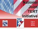 national joint  tert initiative