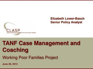 TANF Case Management and Coaching