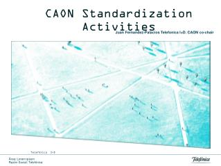 CAON Standardization Activities