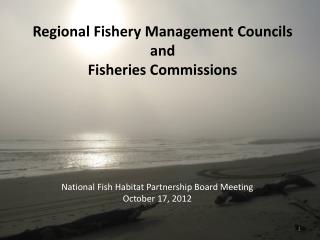 Regional Fishery Management Councils and  Fisheries Commissions