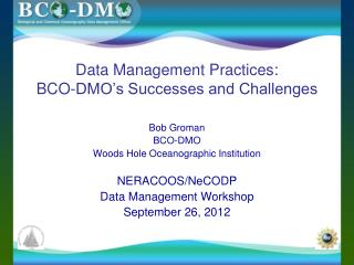 Data Management Practices: BCO-DMO's Successes and Challenges