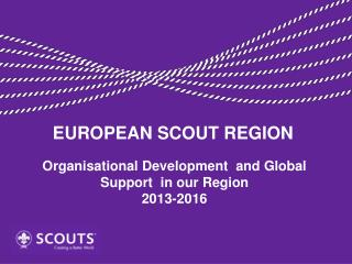 Organisational  Development  and Global Support  in our Region 2013-2016