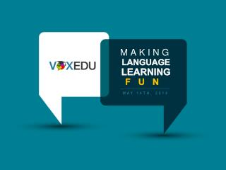 Making Language Learning Fun