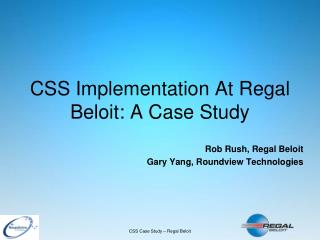 CSS Implementation At Regal Beloit: A Case Study