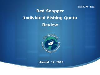 Red Snapper  Individual Fishing Quota  Review
