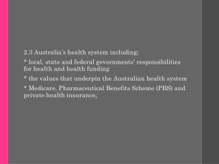 Federal, State and Local Government's responsibility for health, including funding