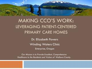 Making CCO' s  work: Leveraging Patient-Centered  PRIMARY CARE HOMES