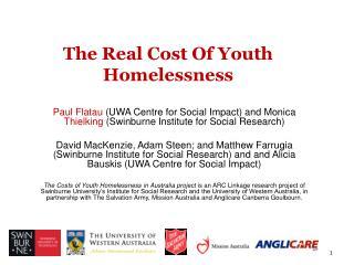 The Real Cost Of Youth Homelessness
