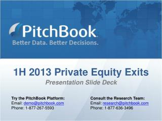 1H 2013 Private Equity Exits Presentation Slide Deck