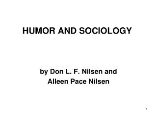 HUMOR AND SOCIOLOGY