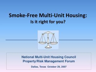 Smoke-Free Multi-Unit Housing: Is it right for you?