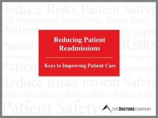 Reducing Patient Readmissions