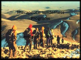 Therapeutic Wilderness Programs