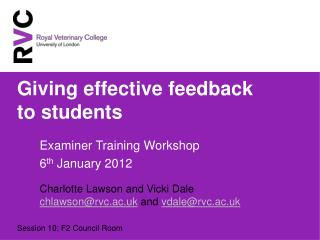 Giving effective feedback to students