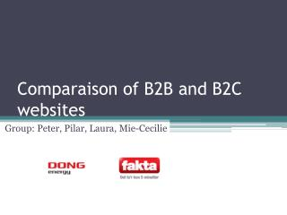 Comparaison of B2B and B2C websites