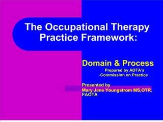 the occupational therapy  practice framework: