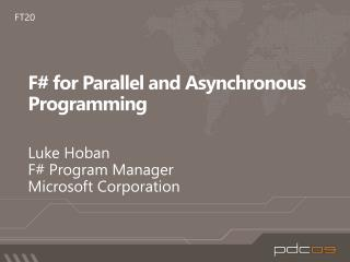 F# for Parallel and Asynchronous Programming