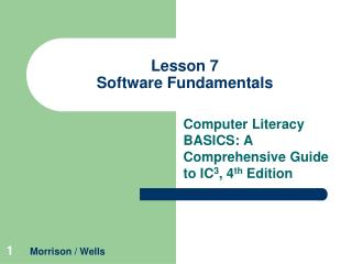 Lesson 7 Software Fundamentals