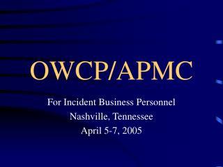 OWCP/APMC