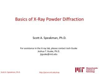 Basics of X-Ray Powder Diffraction