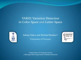 VARiD : Variation Detection  in Color-Space  and  Letter-Space