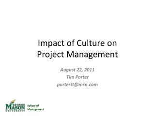 Impact of Culture on  Project Management