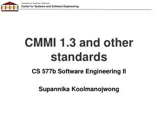 CMMI 1.3 and other standards