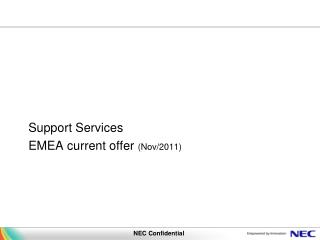 Support Services EMEA current offer  (Nov/2011)