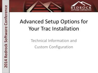 Advanced Setup Options for Your Trac Installation