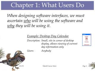 Chapter 1: What Users Do