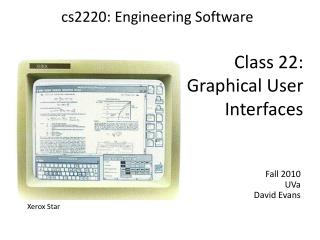 Class 22: Graphical User Interfaces