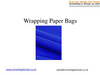 Buy Wrapping Paper Online At Carrier Bags For Sale