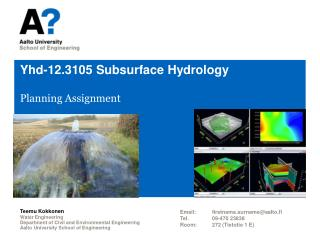 Yhd-12.3105  Subsurface Hydrology