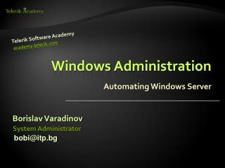 Windows Administration