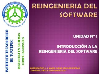 REINGENIERIA DEL SOFTWARE