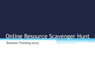 Online Resource Scavenger Hunt