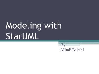 Modeling with  StarUML