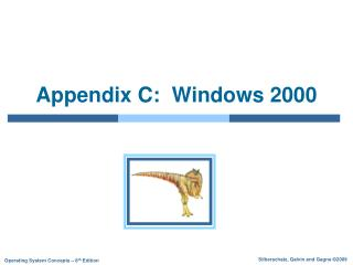 Appendix C:  Windows 2000