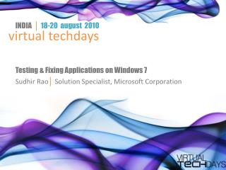Testing & Fixing Applications on Windows 7