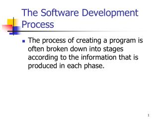 The Software Development Process