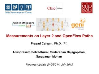 Measurements on Layer 2 and  OpenFlow  Paths