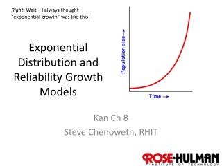 Exponential Distribution and Reliability Growth Models