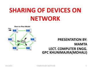 SHARING OF DEVICES ON NETWORK