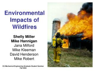 Environmental Impacts of Wildfires