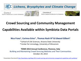 Crowd Sourcing and Community Management Capabilities Available within Symbiota Data Portals
