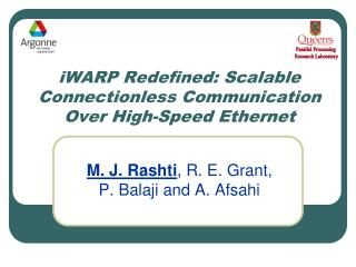 iWARP Redefined: Scalable Connectionless Communication Over High-Speed Ethernet