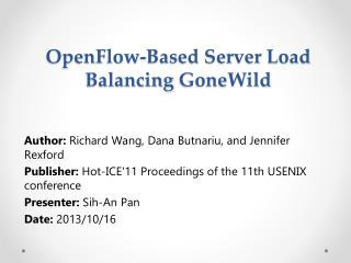 OpenFlow -Based Server Load Balancing  GoneWild