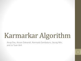 Karmarkar  Algorithm
